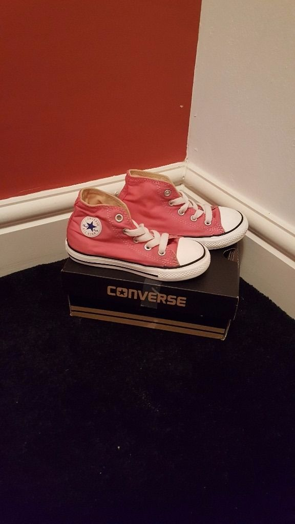 Infant size 8 pink converse
