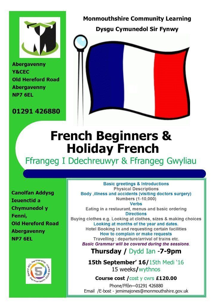 Holiday French Class in Abergavenny