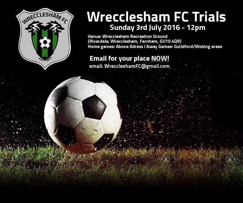 Wrecclesham Football Club Holding Trials