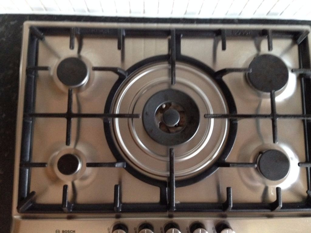 Gas Hob 5 Burners Bosch Stainless Steel