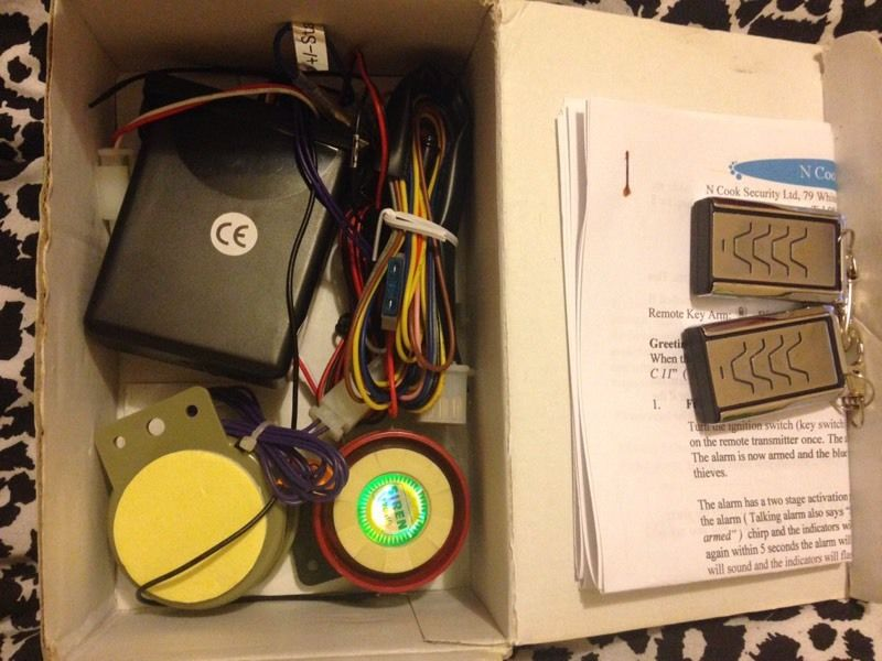 BRAND NEW CYCLONE C-11 MOTORCYCLE ALARM SYSTEM
