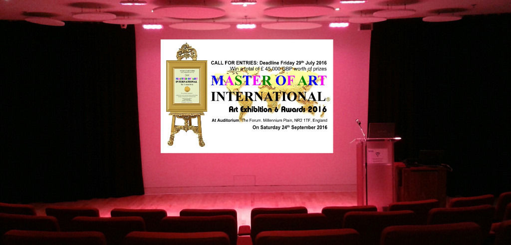 Call for Entries to Artists : MASTER OF ART INTERNATIONAL EXHIBITION 2016