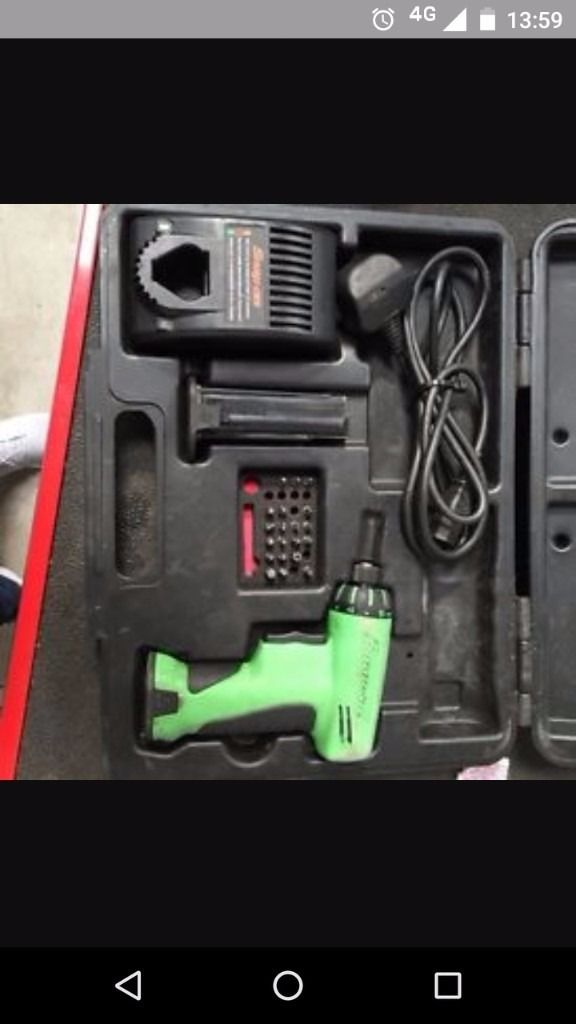 Snap on screwdriver drill