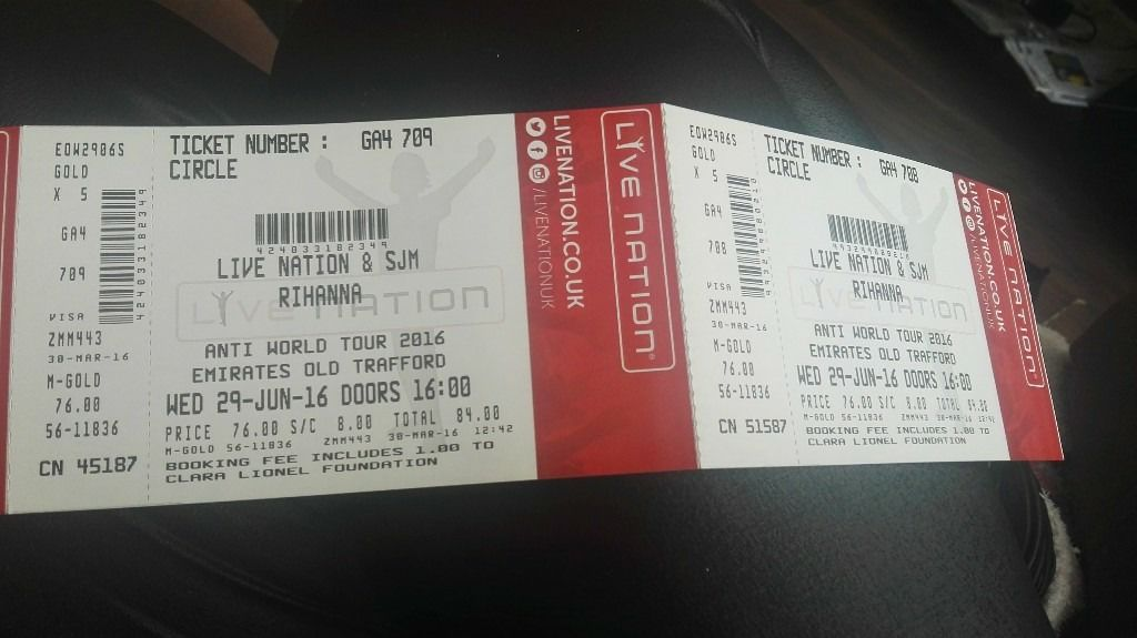 2x Rihanna Golden Circle Tickets