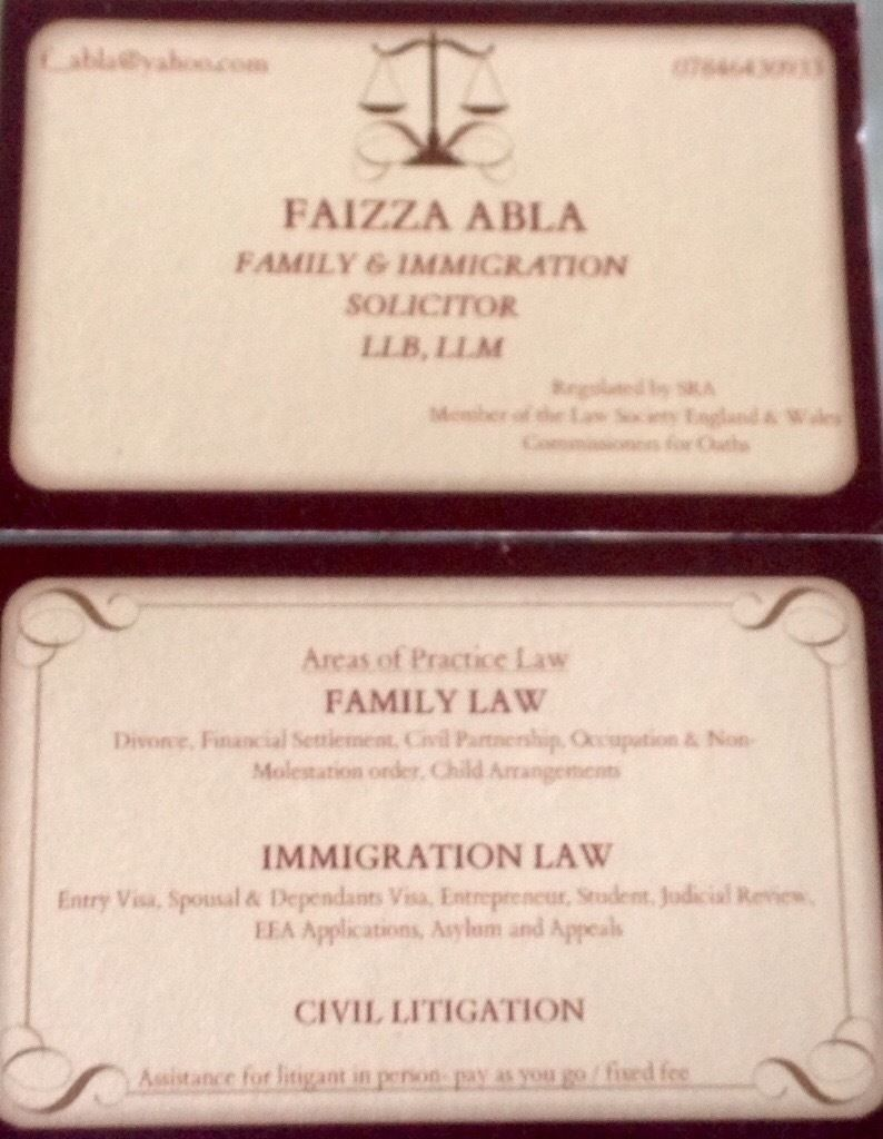 Are you seeking Immigration&Family law advice