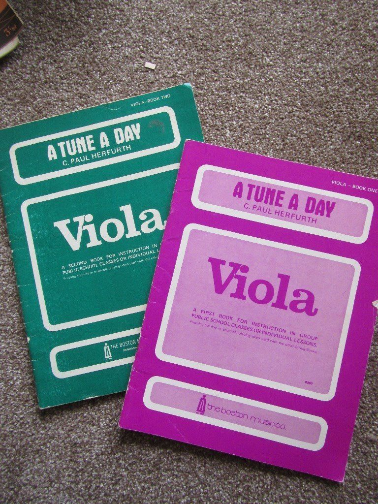 2 Viola tune a day music books