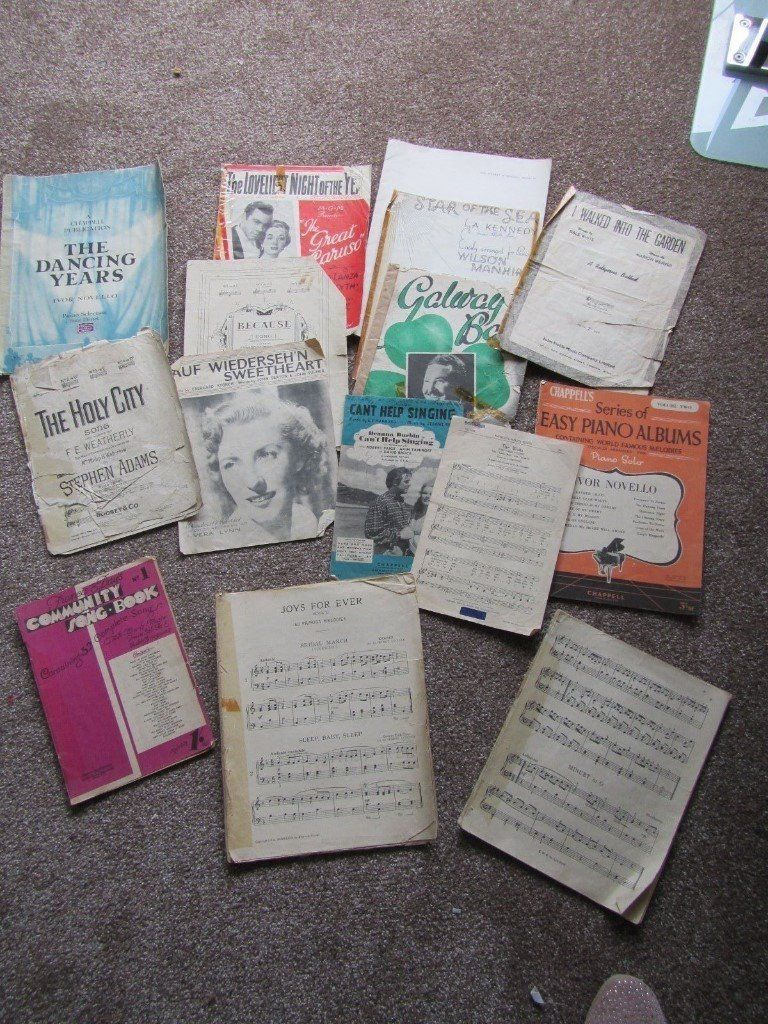 Selection of vintage music books / sheet music - used