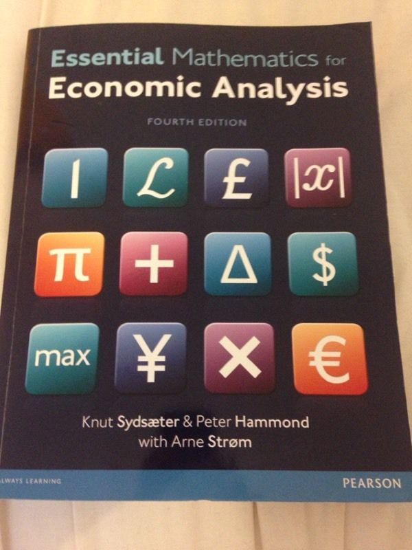 Economics textbook (maths side) bristol university first year