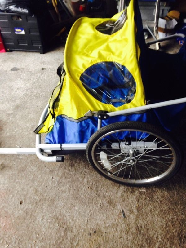 2 seater child cycle trailer