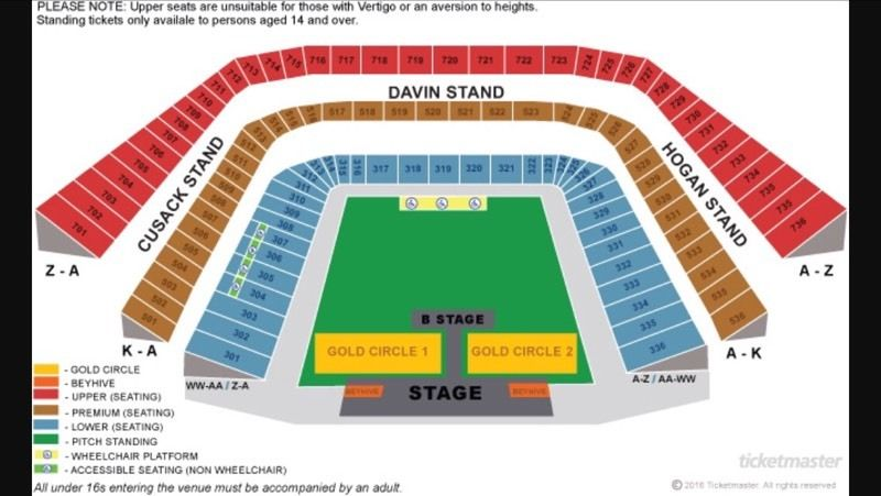 2 Beyonce gold circle tickets