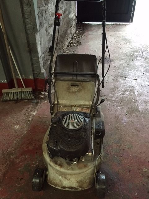 PAIR LAWN MOWERS, NEED TLC, NICE PROJECT, DECENT MAKES