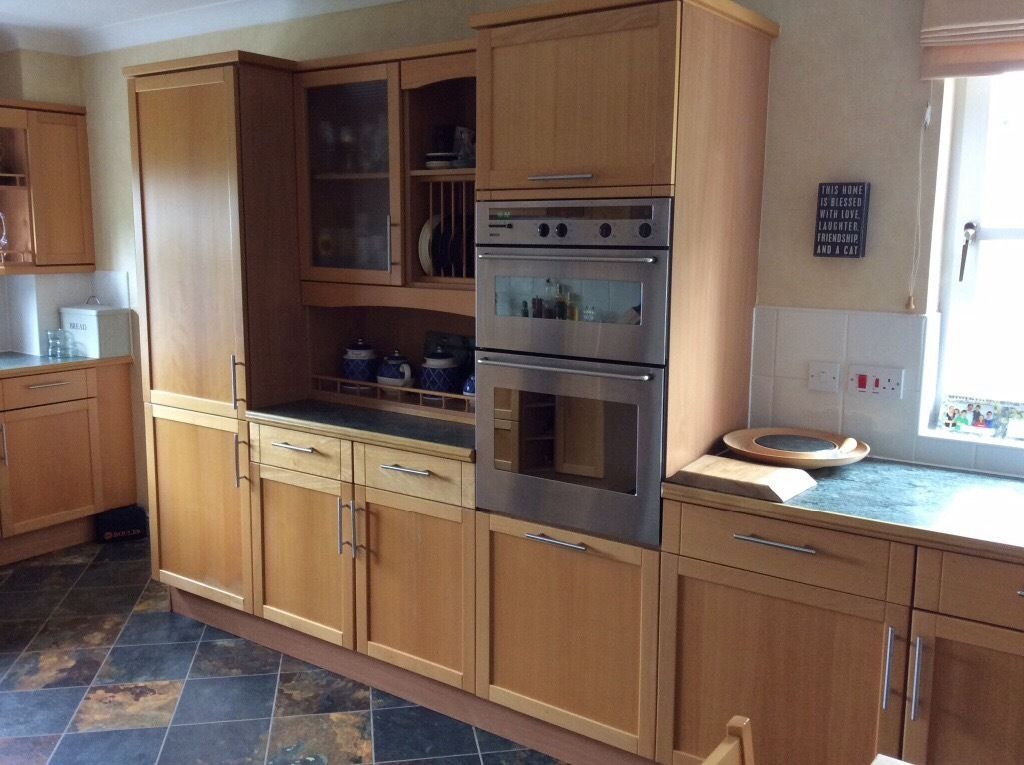 Beech Kitchen and all Integrated Appliances for sale