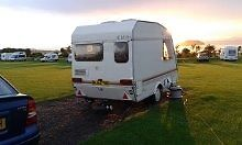 2 Berth Caravan EXTREMELY Lightweight (549kg) - completely dry, serviced, can be towed by ANY car