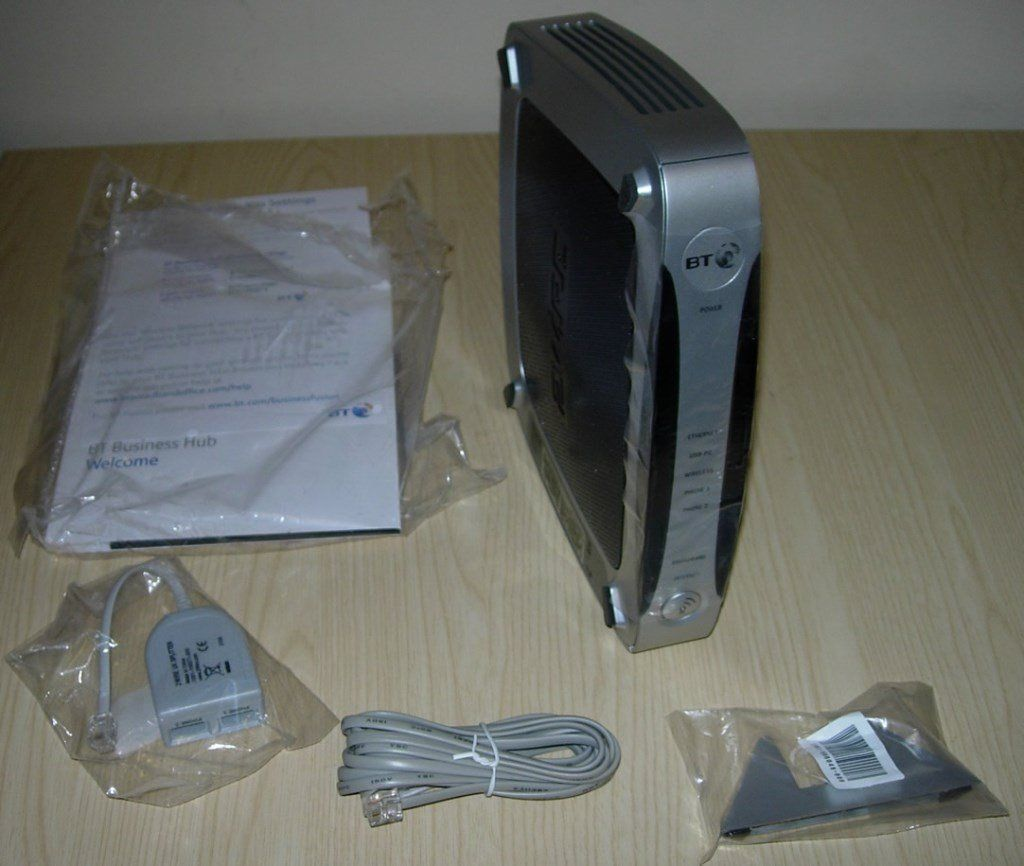 BT Business Hub 566, BT 2700HGV Wireless Gateway ADSL2+ Hub, Version 2.0