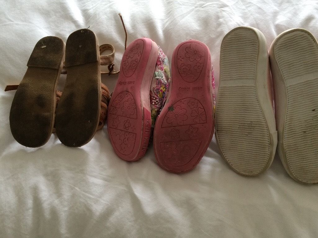 Next / Lelli Kelly / h&m - 3 pairs girls shoes - child size 10 (euro 28)