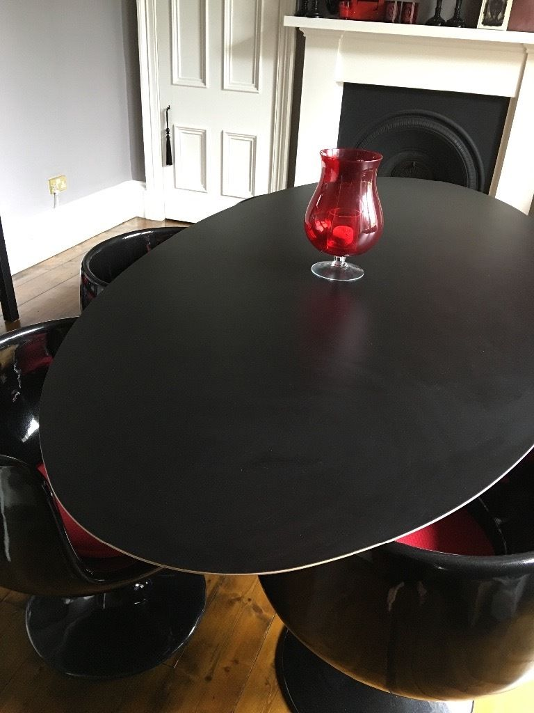 Beautiful Italian Dining Table and designer chairs