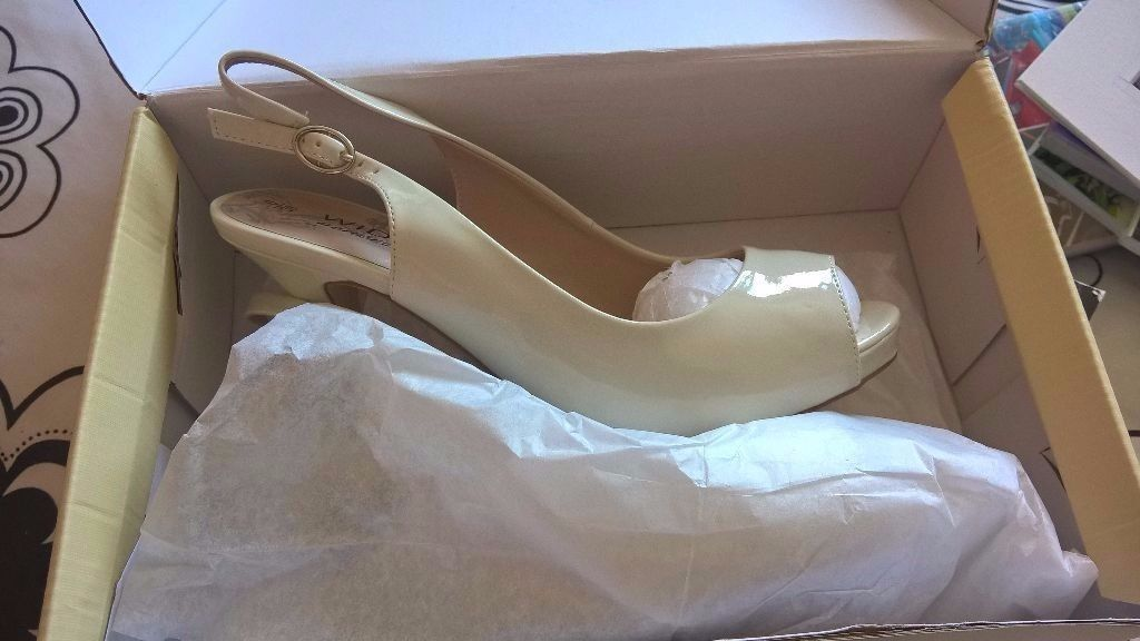 Next Ivory Wedding Shoes size 6