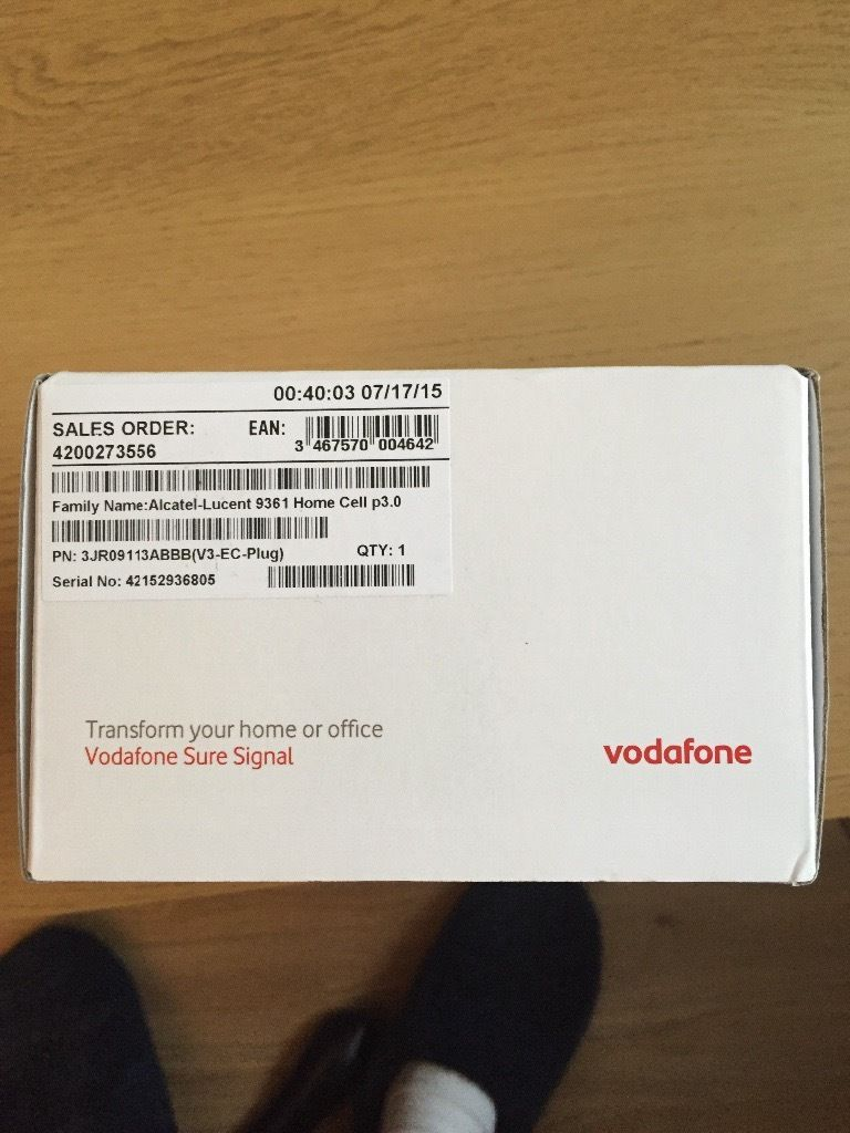 Vodafone Sure Signal Booster - NEW IN BOX - UNOPENED