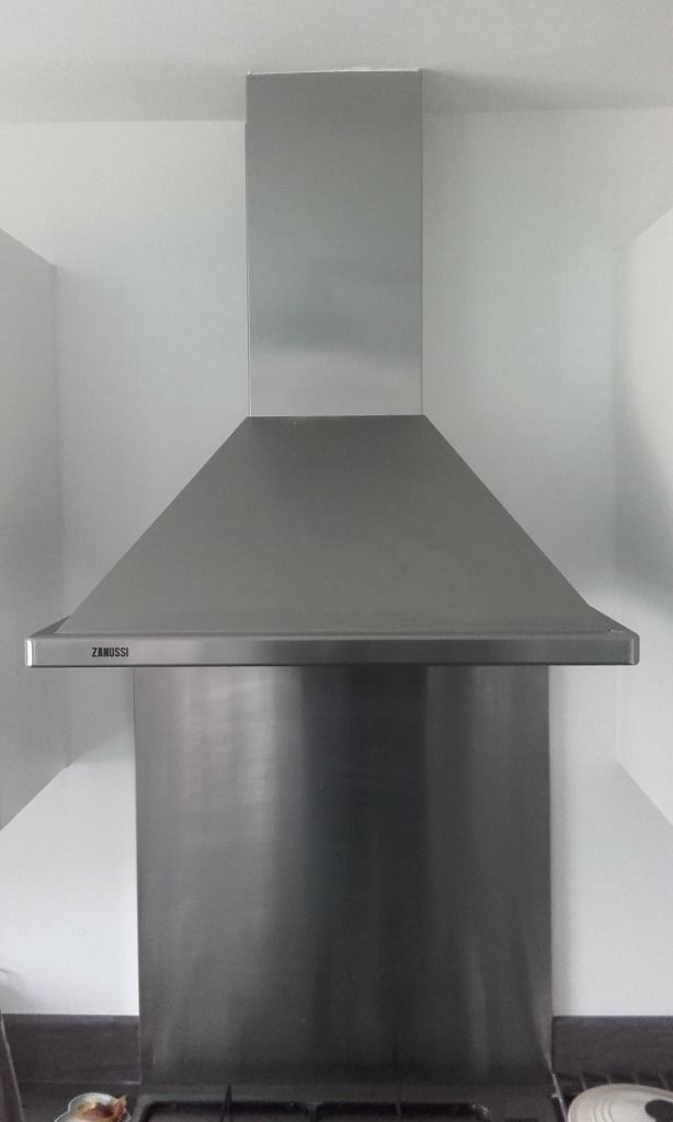 New and unused Zanussi stainless steel cooker hood