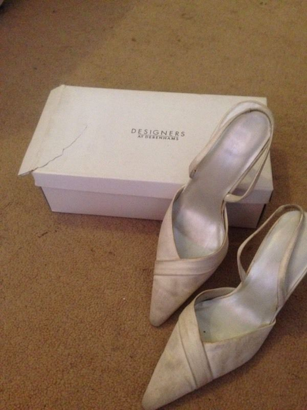 Wedding shoes worn