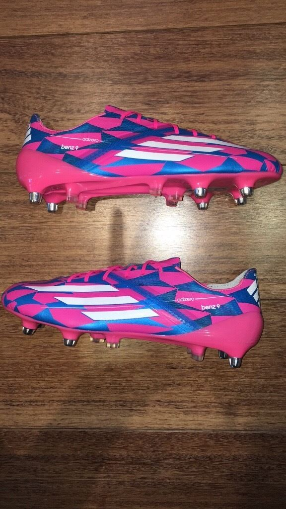 Karim benzema match issued not worn football boots adidas f50 Real Madrid made in Germany