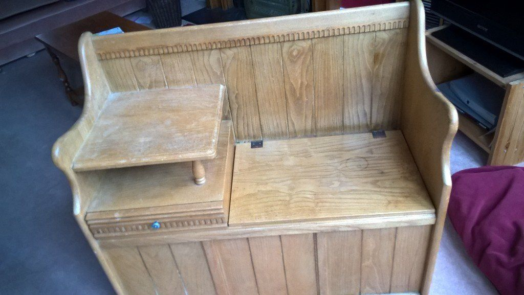 Telephone seat/ table solid wood ,Knowle
