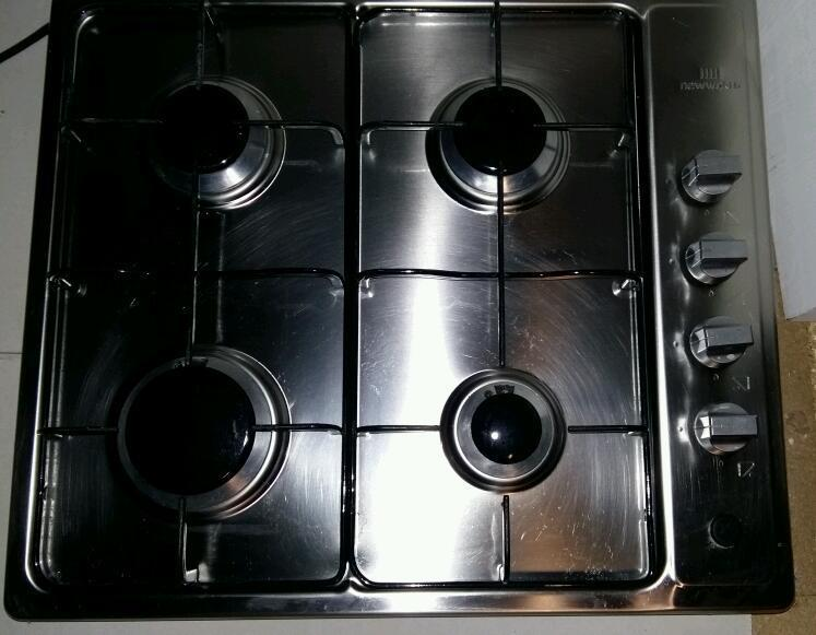 Silver Gas Hob 4 ring - new world