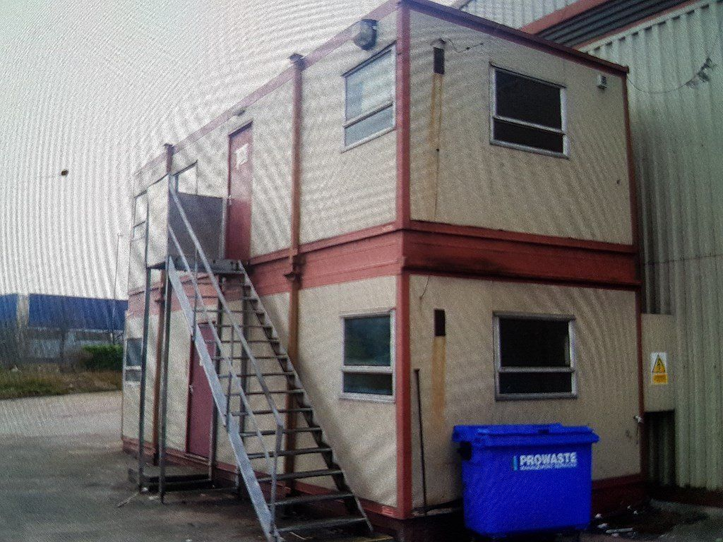 portable offices/cabins with stairs