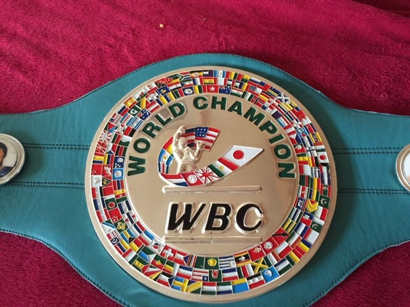 WBC world title boxing belt