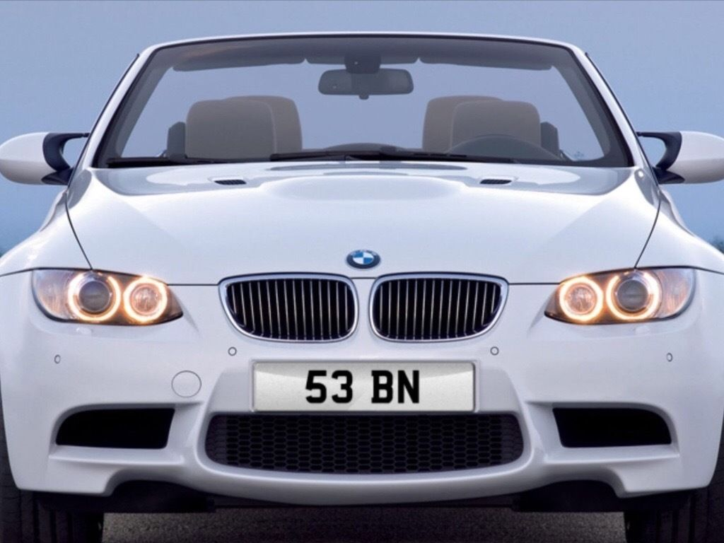 Cherished Private Number Plate 53 BN - 2 Digit Private Plate - Short Dateless