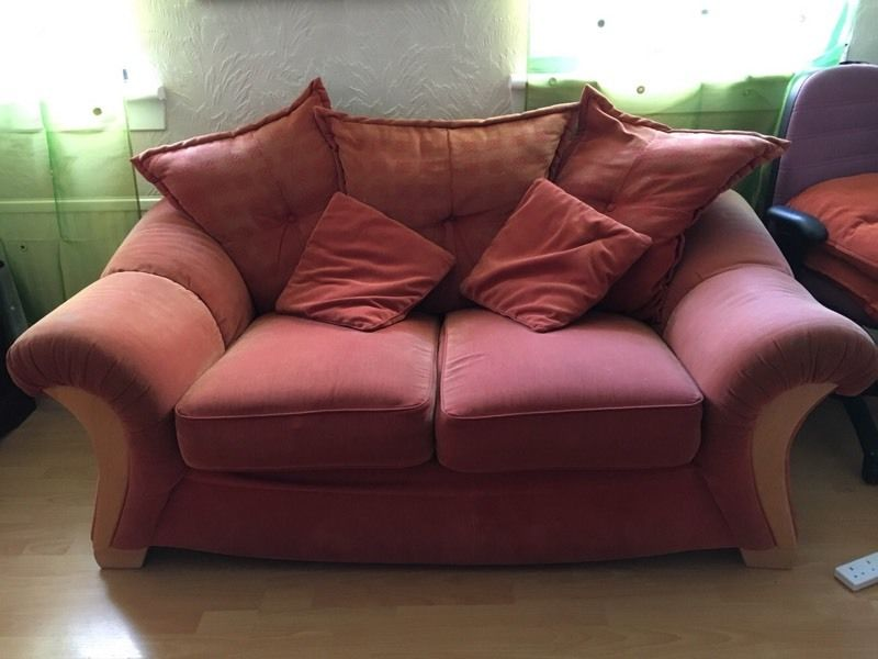 2 x Two seater sofa free. Still in good condition. Jenners brand.