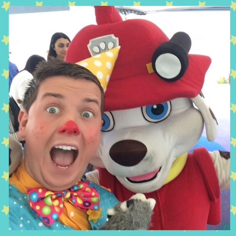 Kids parties mascots paw patrol Mr Tumble Frozen Buffet hot dogs popcorn slush candy floss cocktail