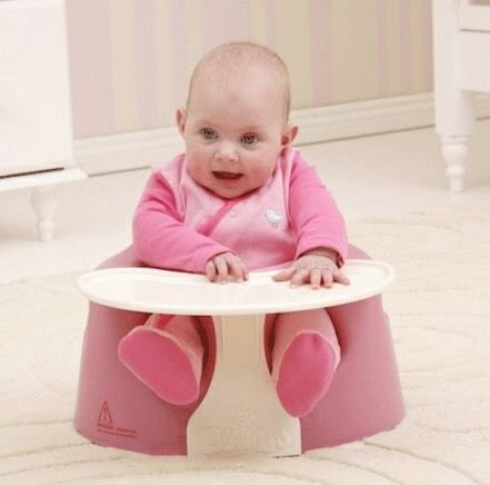 Pink Bumbo + tray