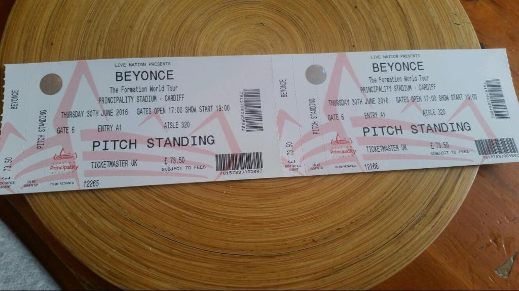 Beyonce - The Formation World Tour Tickets - Cardiff - 30th June 2016
