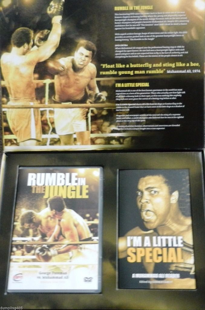 Muhammad Ali Exclusive DVD and Book Rumble in the Jungle Special 2008