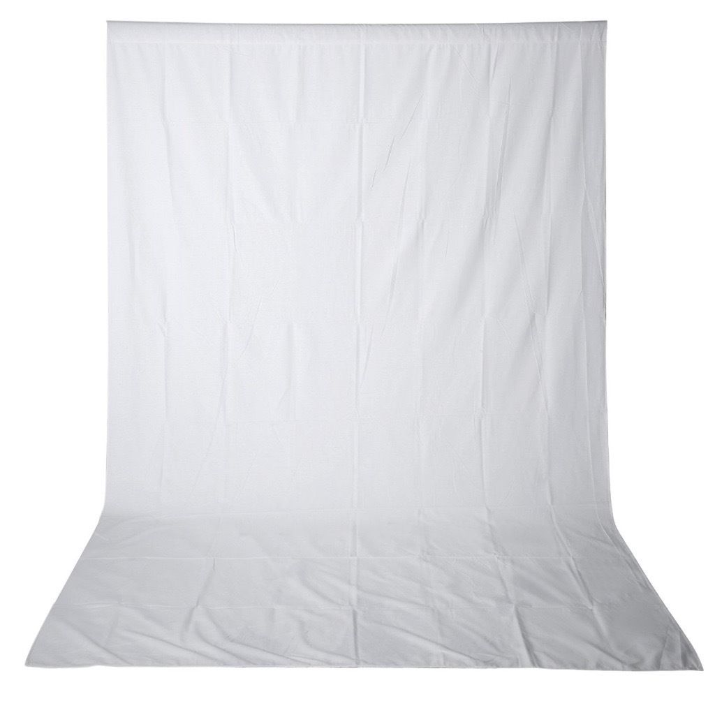 Like New - Photo Studio Backdrop Stand 3m * 2.8m + 100% Pure Muslin Collapsible Backdrop