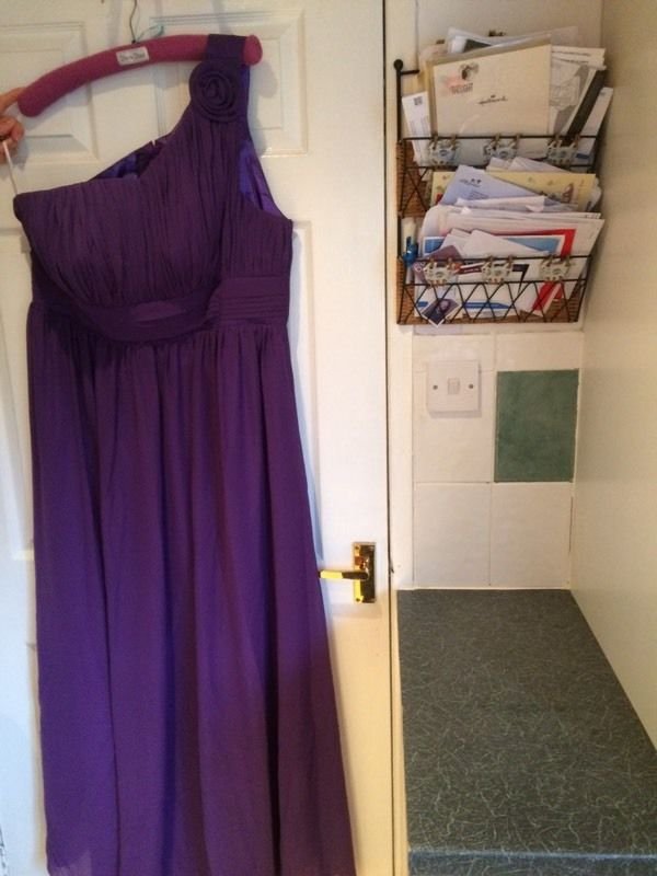 Cadburys purple bridesmaid dress