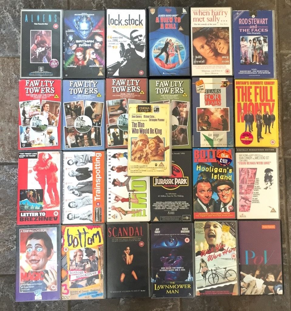 Selection of Vintage classic VHS TAPES.