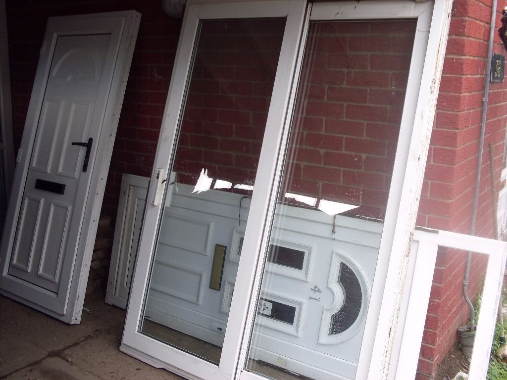 nice patio doors upvc nice and chunky type ready to fit