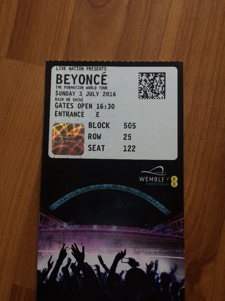 Beyoncé ticket, formation tour