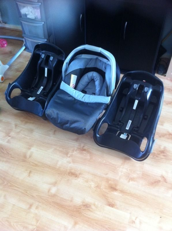Mothercare car seat plus two graco isofix bases