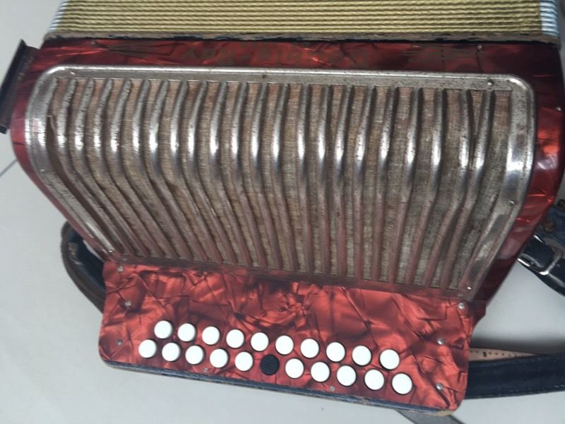 Hohner double Ray deluxe button accordion