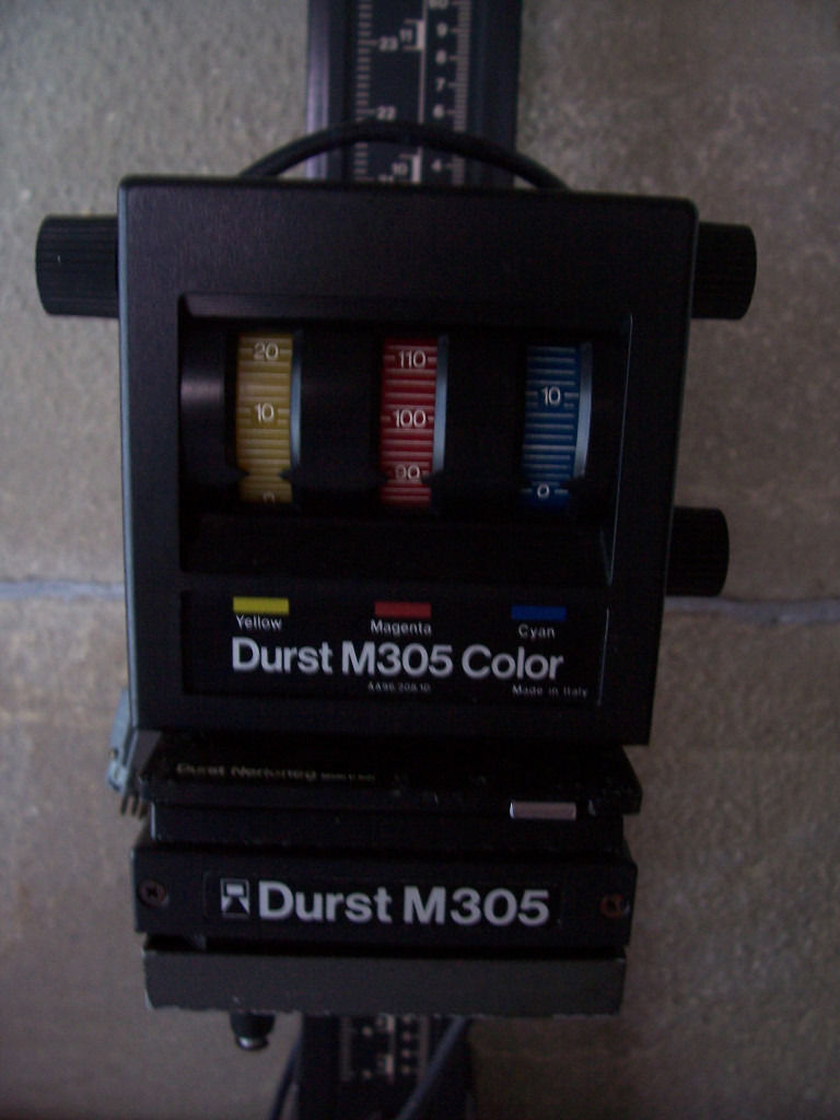 Durst 305 film enlarger with photographic paper
