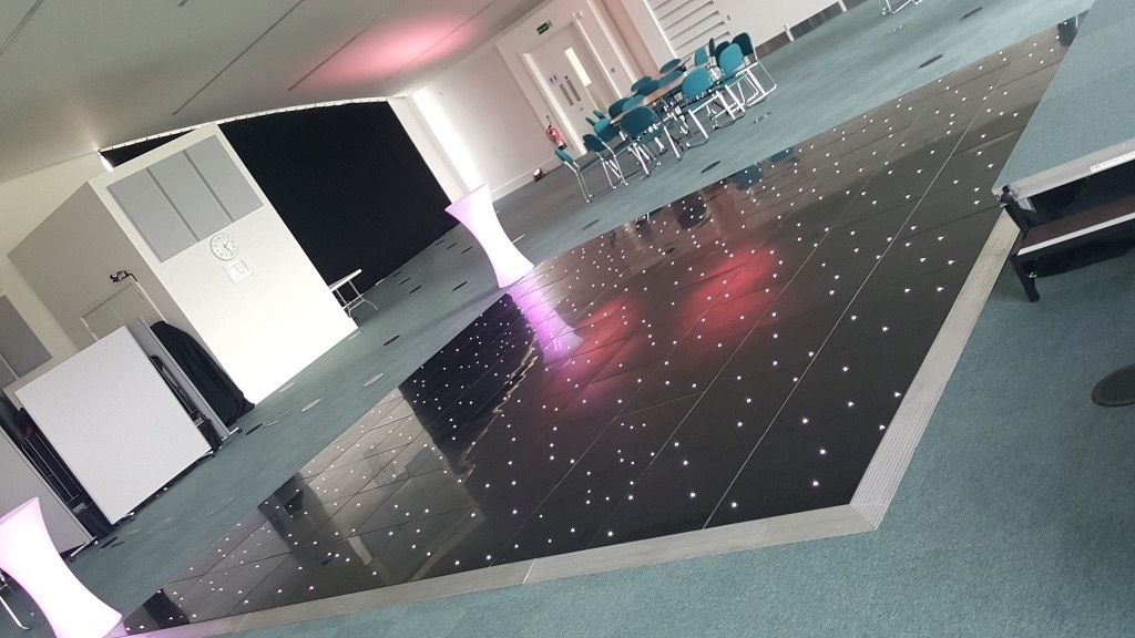 black led dance floor for sale 20x20ft just over a year old