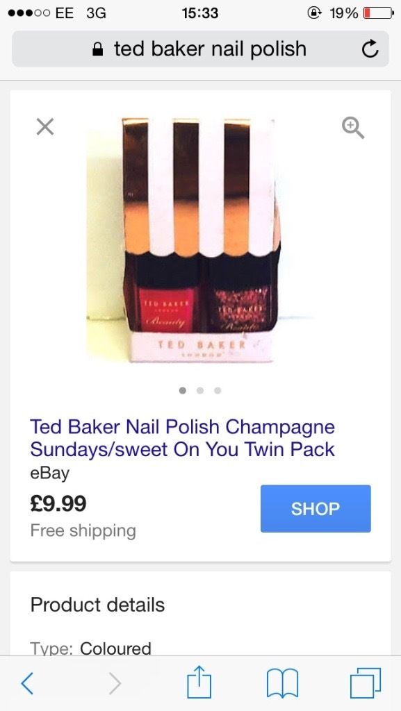 Genuine Ted Baker nail polish duo