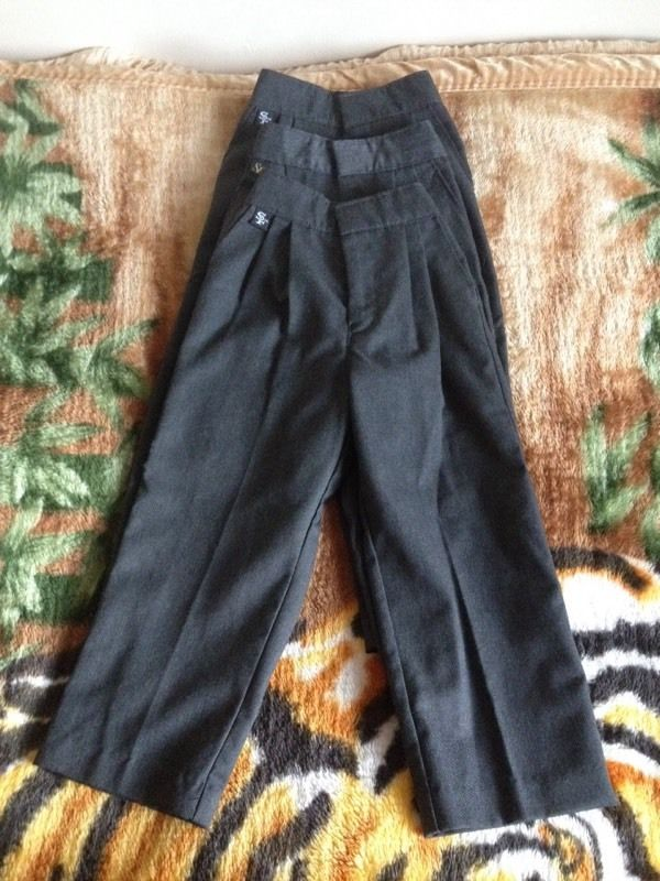3 new school boys trousers for 3years