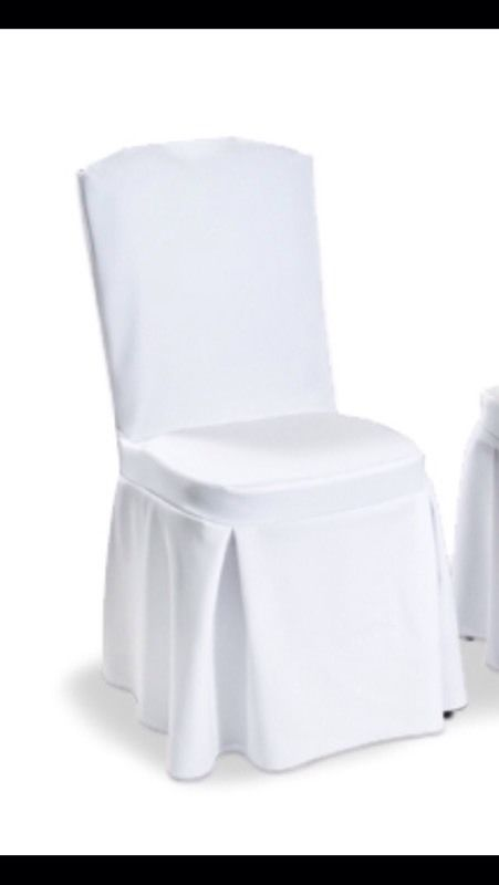 50 white chair covers