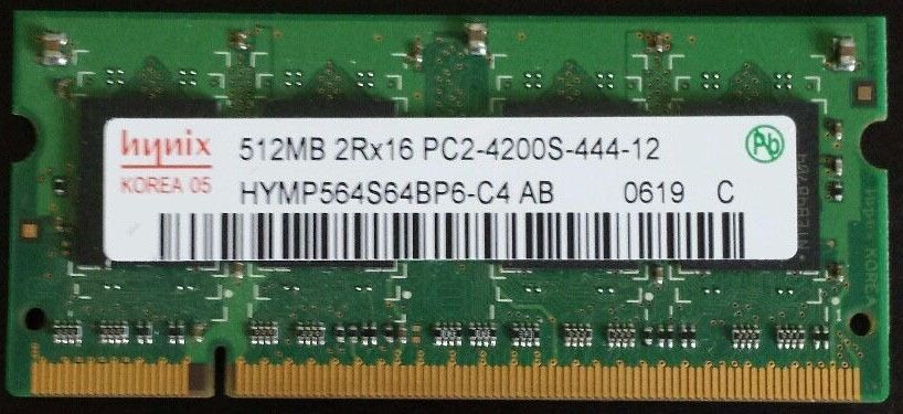 Hynix 512mb 2Rx16 PC2-4200S-444-12 Ram Laptop (1--Available !)