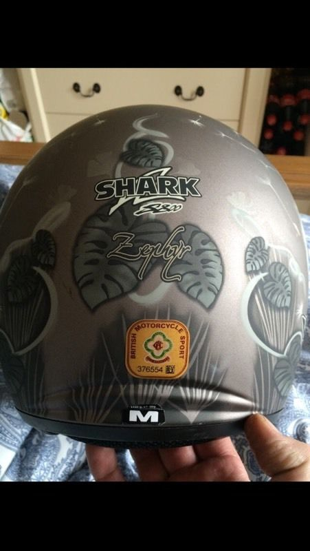 Ladies shark helmet