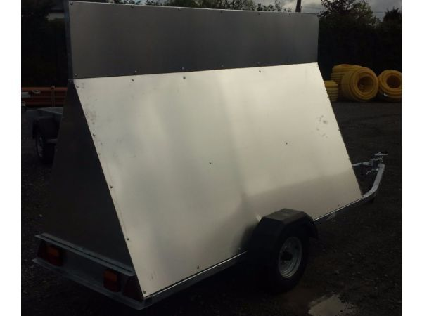 NEW 8ft ADVERTISING TRAILER WITH ALUMINIUM PANELS LED LIGHTS AVAILABLE AT ARMAGH TRAILERS